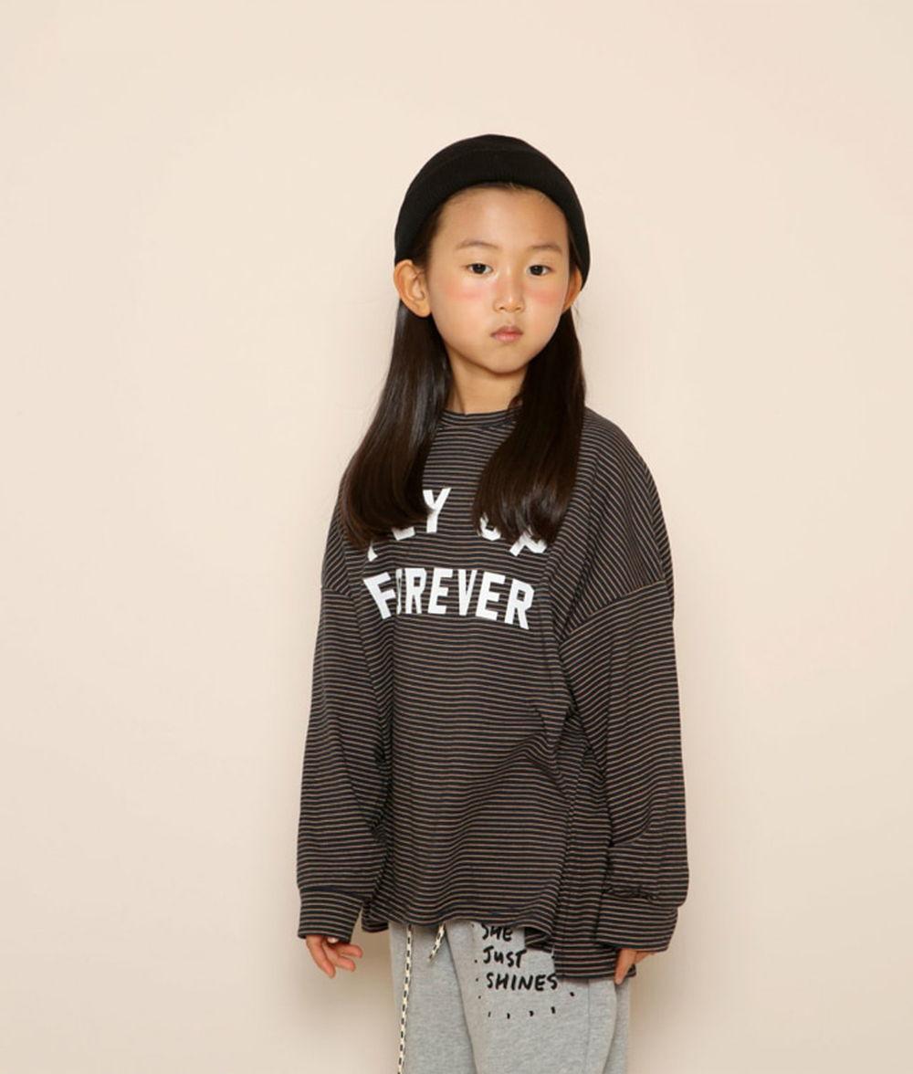 JENNY BASIC - BRAND - Korean Children Fashion - #Kfashion4kids - Fly Stripe Tee