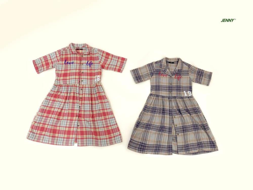 JENNY BASIC - Korean Children Fashion - #Kfashion4kids - 19 Check One-piece