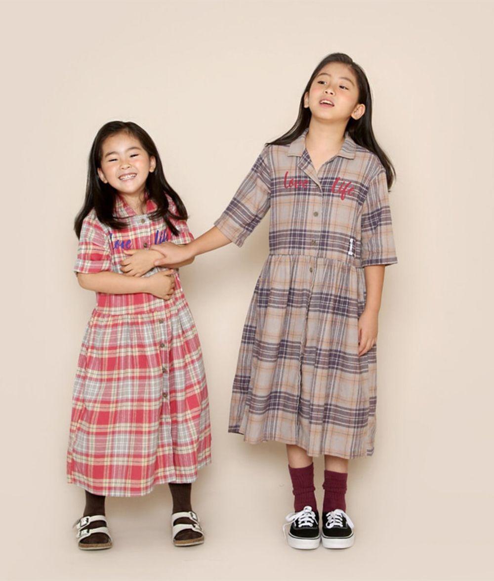 JENNY BASIC - BRAND - Korean Children Fashion - #Kfashion4kids - 19 Check One-piece