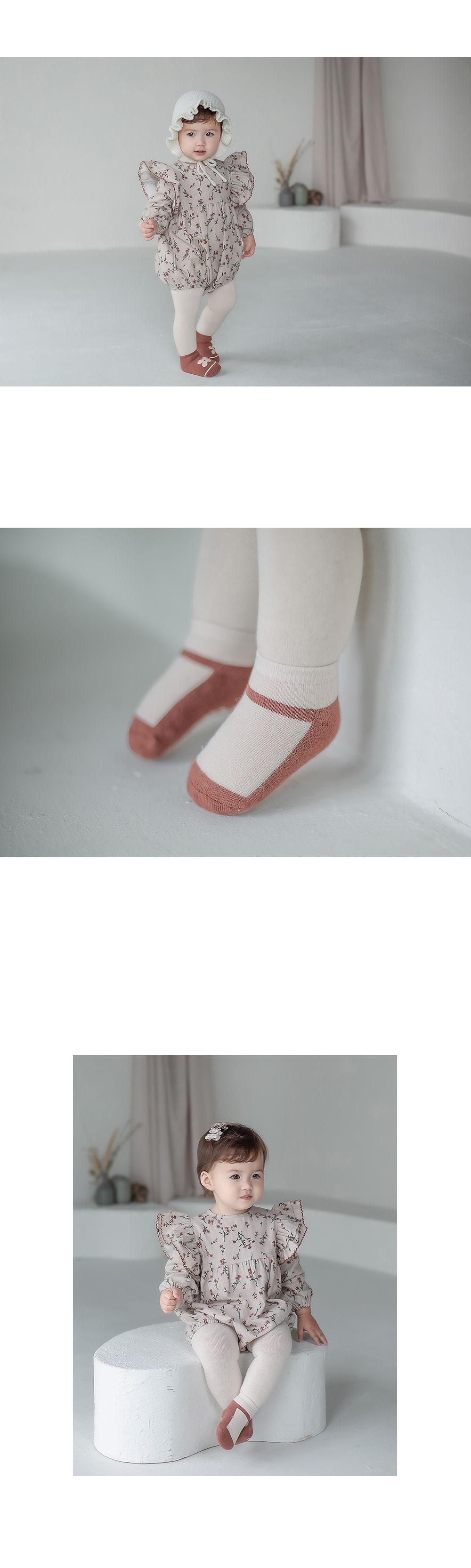 KIDS CLARA - Korean Children Fashion - #Kfashion4kids - Mumu Baby Socks Set [set of 5] - 3