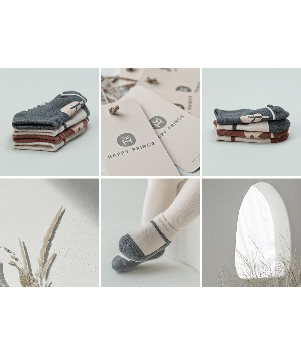 KIDS CLARA - Korean Children Fashion - #Kfashion4kids - Mumu Baby Socks Set [set of 5] - 4