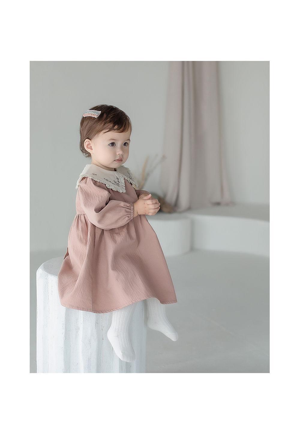 KIDS CLARA - Korean Children Fashion - #Kfashion4kids - Creamy Baby Tights - Cream [set of 5] - 4