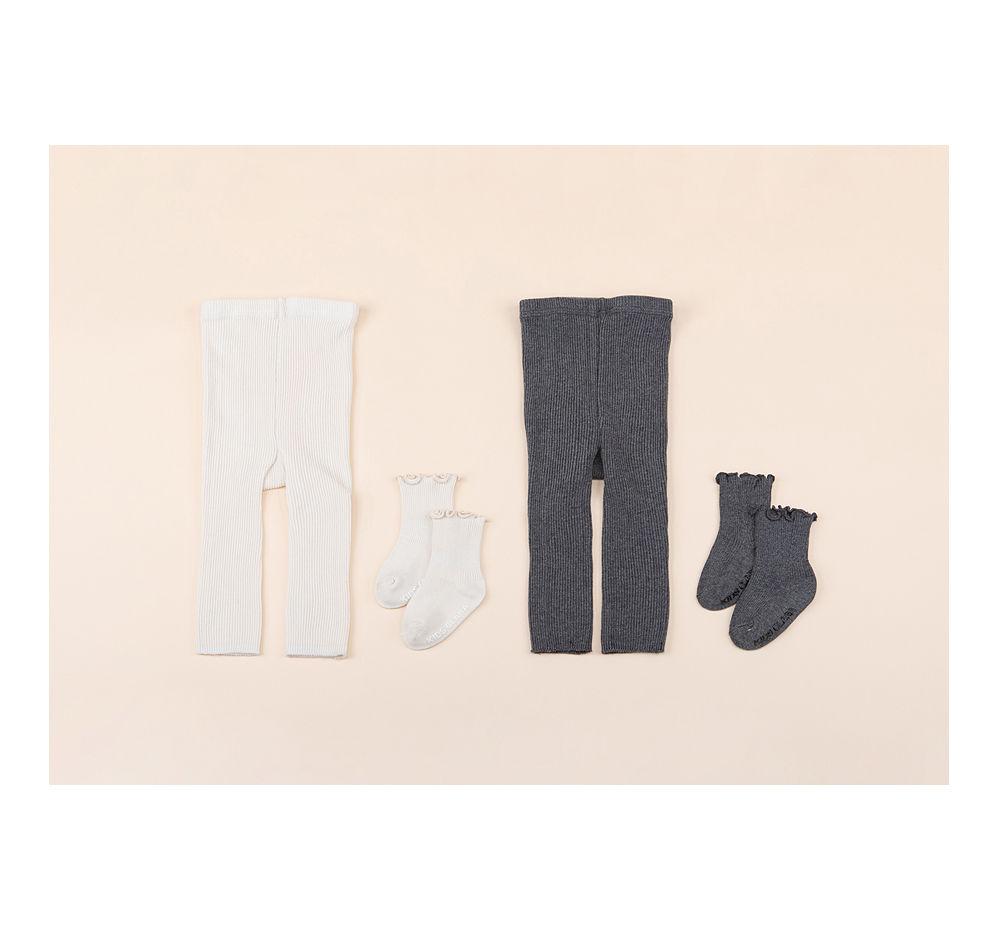 KIDS CLARA - Korean Children Fashion - #Kfashion4kids - Rodina Leggings Set [set of 5] - 5
