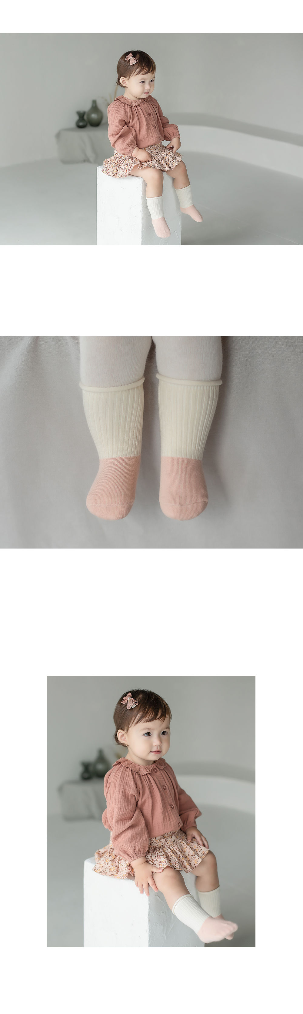 KIDS CLARA - Korean Children Fashion - #Kfashion4kids - Amber Rolling Baby socks [set of 5] - 3