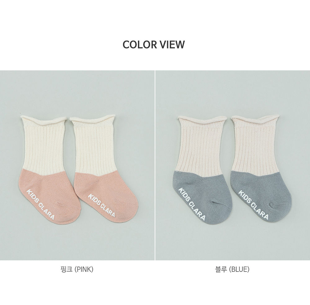 KIDS CLARA - Korean Children Fashion - #Kfashion4kids - Amber Rolling Baby socks [set of 5] - 8