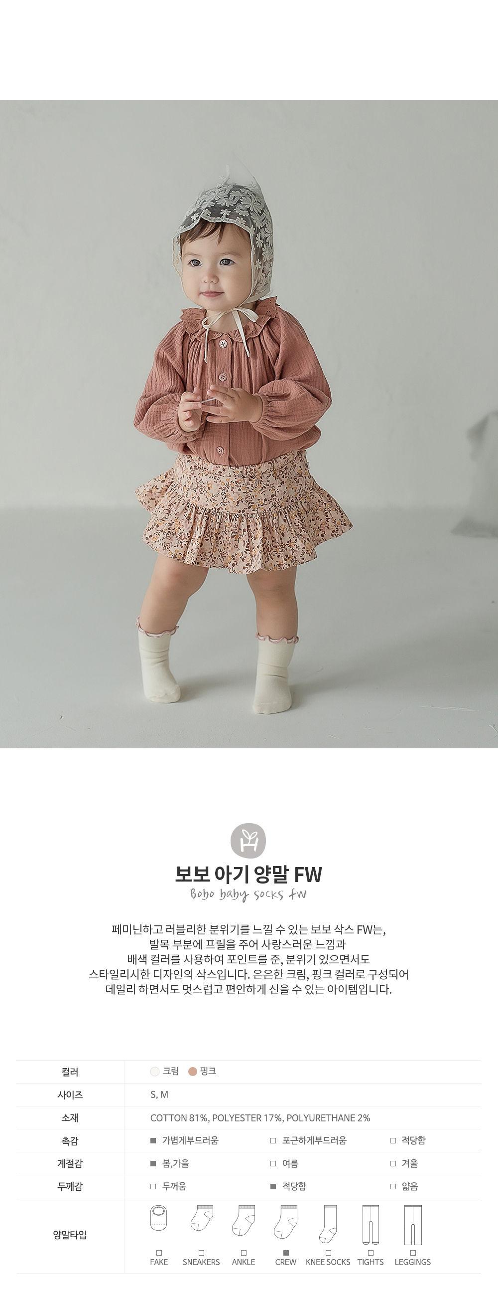 KIDS CLARA - Korean Children Fashion - #Kfashion4kids - Bobo Baby Socks [set of 5]