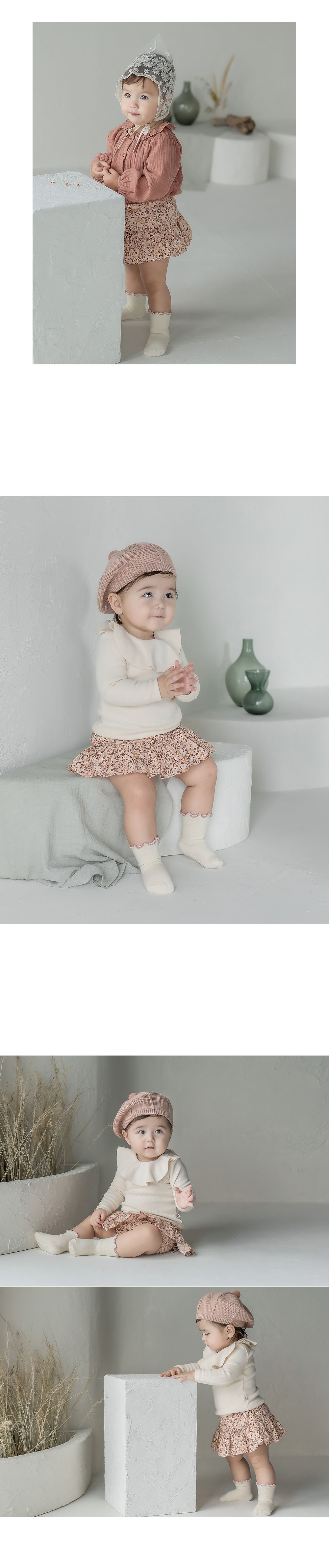 KIDS CLARA - Korean Children Fashion - #Kfashion4kids - Bobo Baby Socks [set of 5] - 2