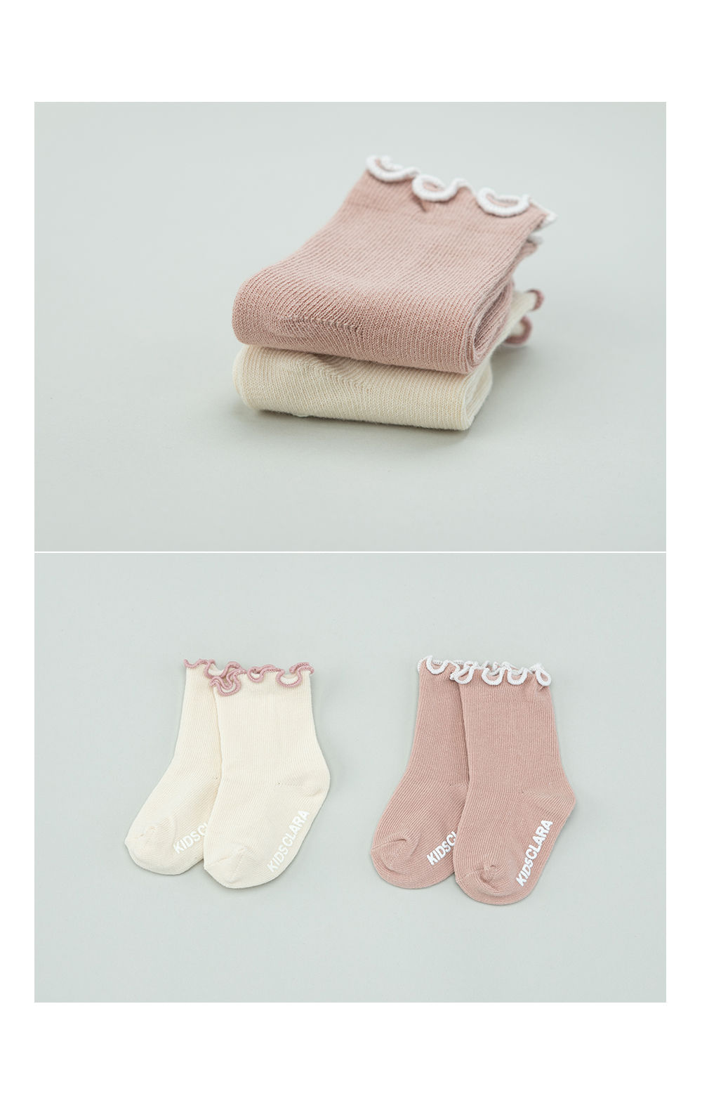 KIDS CLARA - Korean Children Fashion - #Kfashion4kids - Bobo Baby Socks [set of 5] - 3