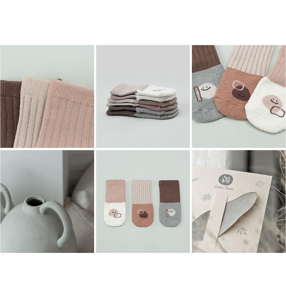 KIDS CLARA - Korean Children Fashion - #Kfashion4kids - Livia Baby Socks [set of 5] - 4