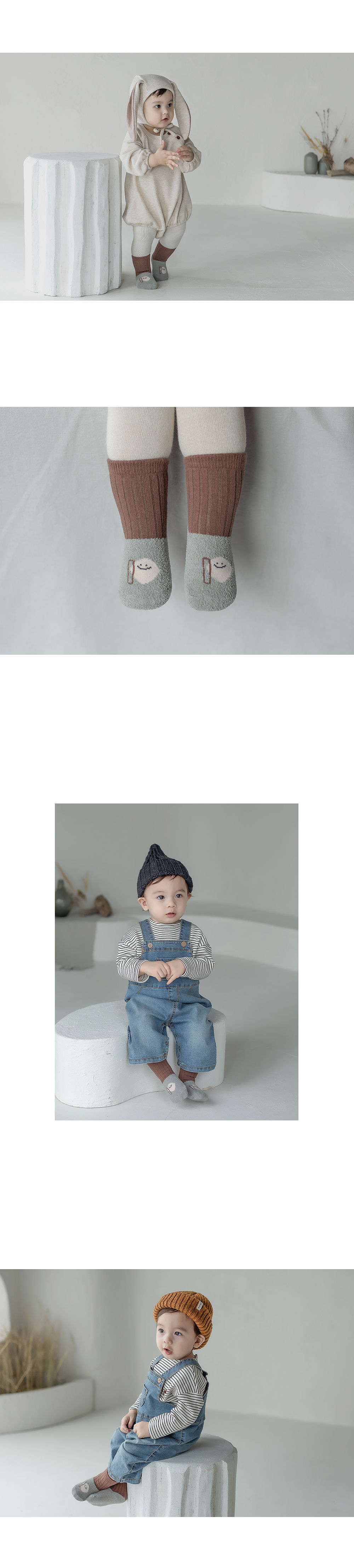 KIDS CLARA - Korean Children Fashion - #Kfashion4kids - Livia Baby Socks [set of 5] - 5