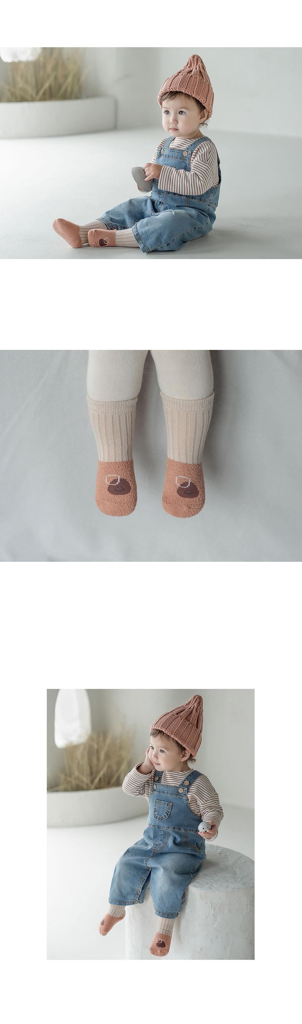 KIDS CLARA - Korean Children Fashion - #Kfashion4kids - Livia Baby Socks [set of 5] - 6