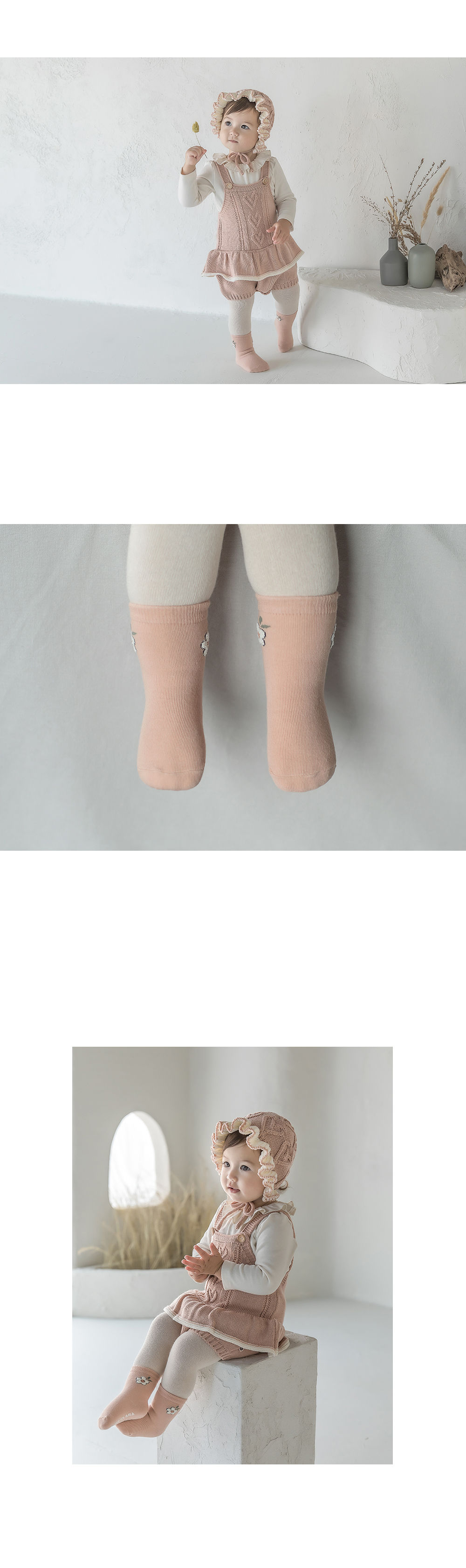 KIDS CLARA - Korean Children Fashion - #Kfashion4kids - Fores Baby Socks [set of 5] - 3