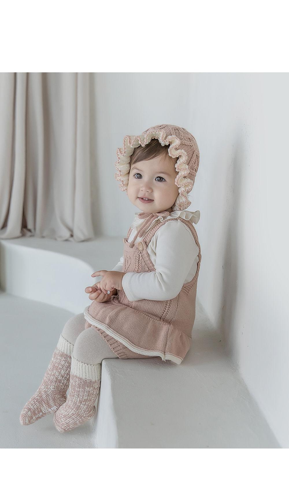 KIDS CLARA - Korean Children Fashion - #Kfashion4kids - Elon Knit Baby Knee Socks [set of 5]