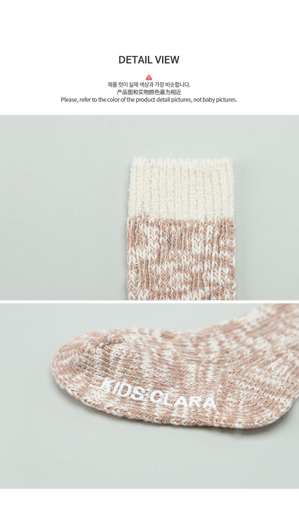 KIDS CLARA - Korean Children Fashion - #Kfashion4kids - Elon Knit Baby Knee Socks [set of 5] - 6
