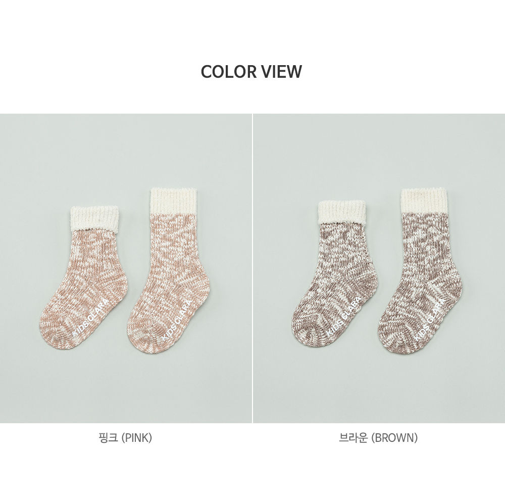 KIDS CLARA - Korean Children Fashion - #Kfashion4kids - Elon Knit Baby Knee Socks [set of 5] - 7
