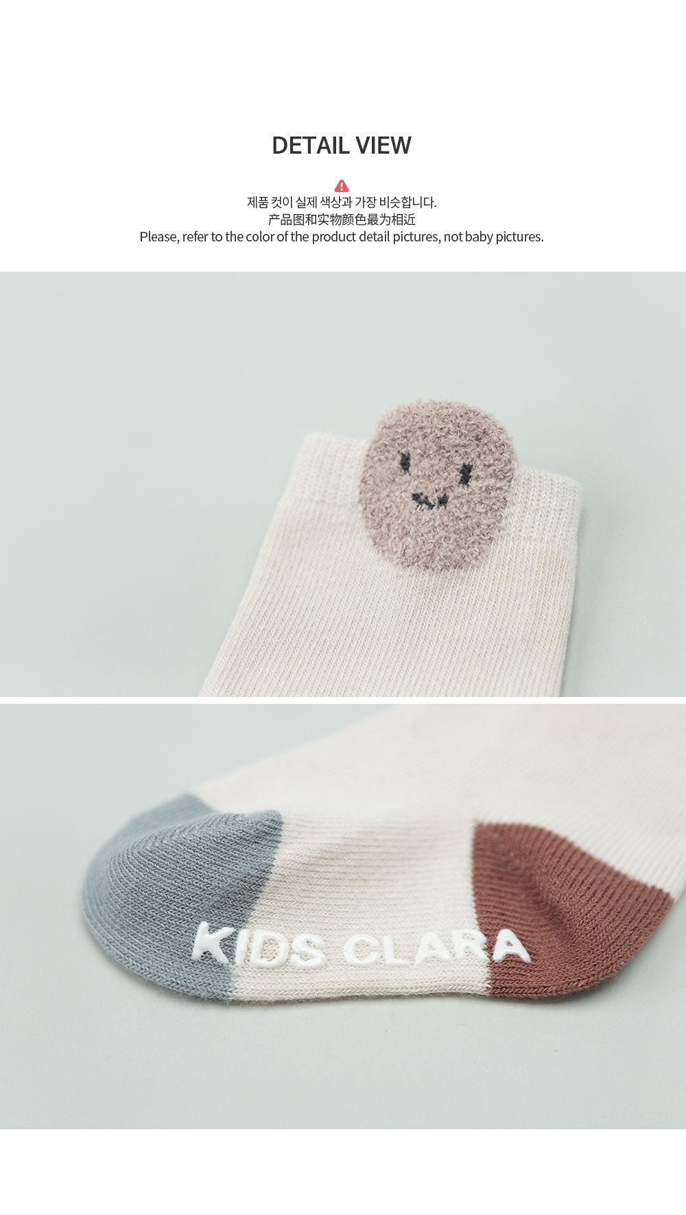 KIDS CLARA - Korean Children Fashion - #Kfashion4kids - Raki Baby Socks [set of 5] - 6