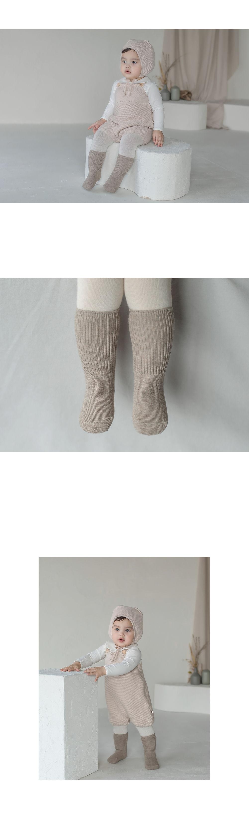 KIDS CLARA - Korean Children Fashion - #Kfashion4kids - Luco Warmer Baby Socks [set of 5] - 3