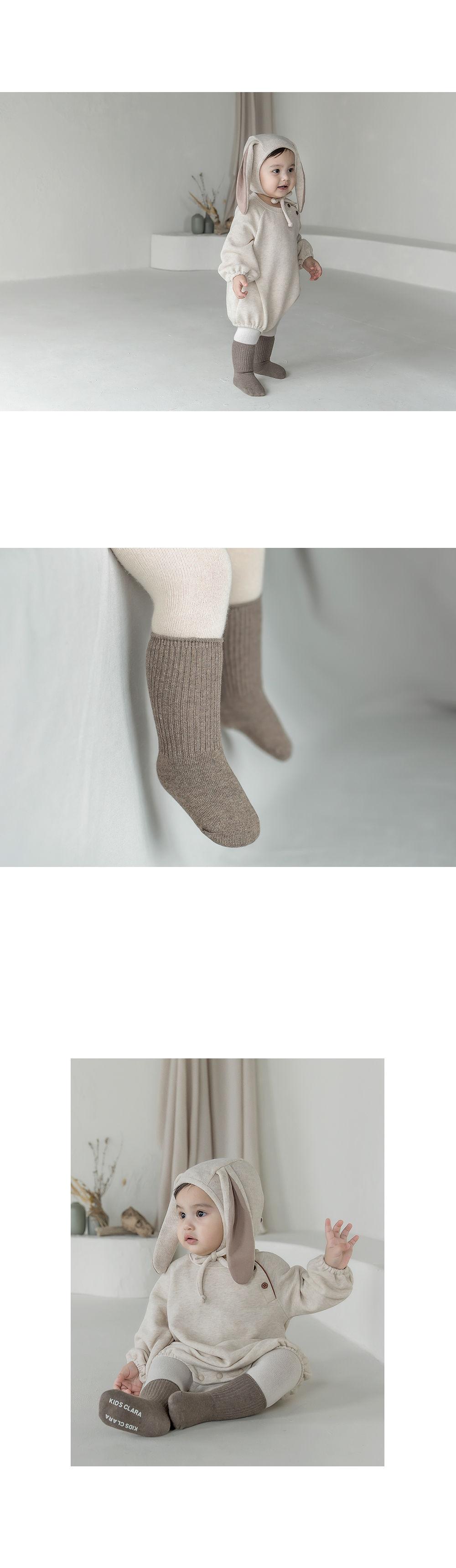 KIDS CLARA - Korean Children Fashion - #Kfashion4kids - Luco Warmer Baby Socks [set of 5] - 6
