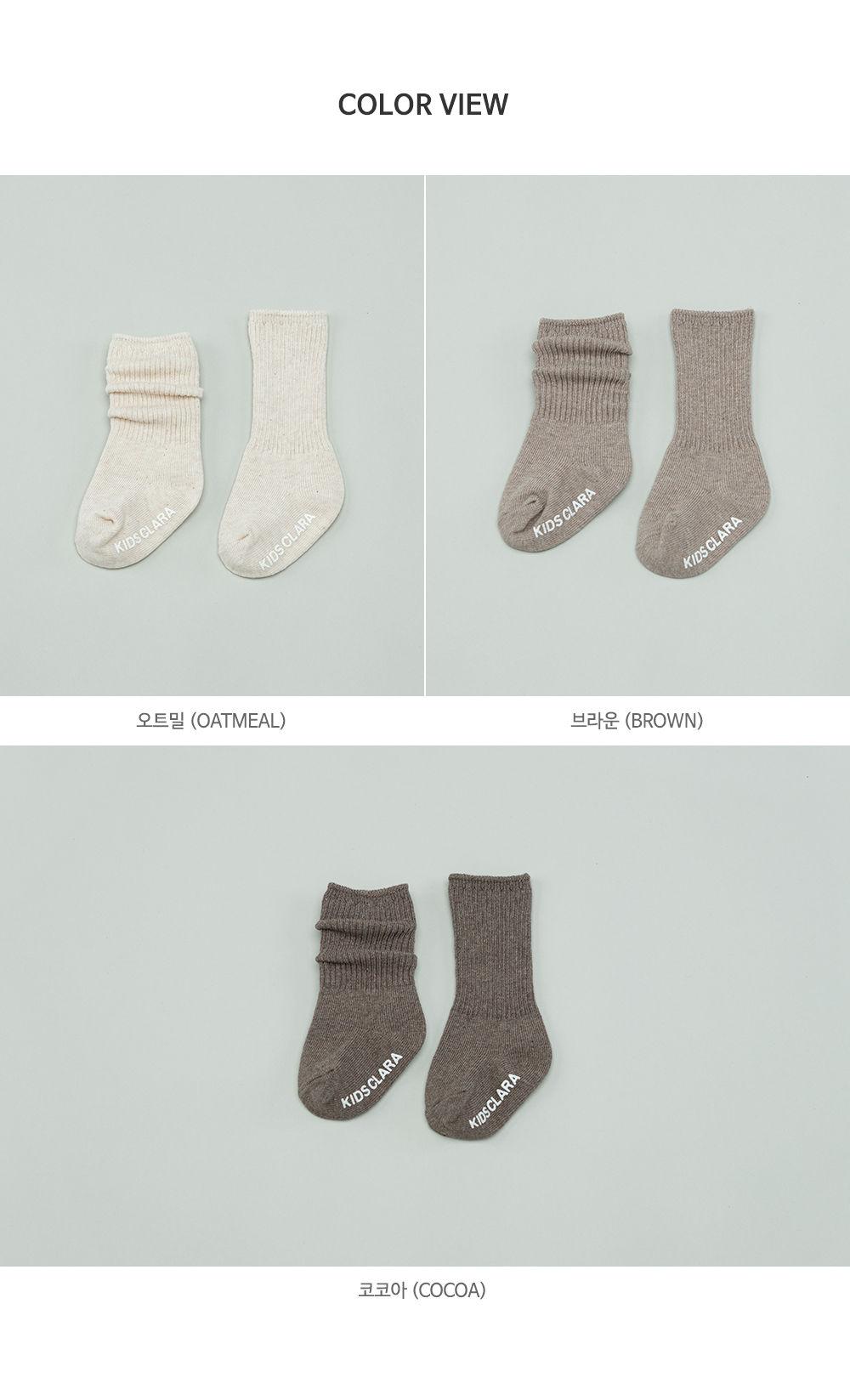 KIDS CLARA - Korean Children Fashion - #Kfashion4kids - Luco Warmer Baby Socks [set of 5] - 8