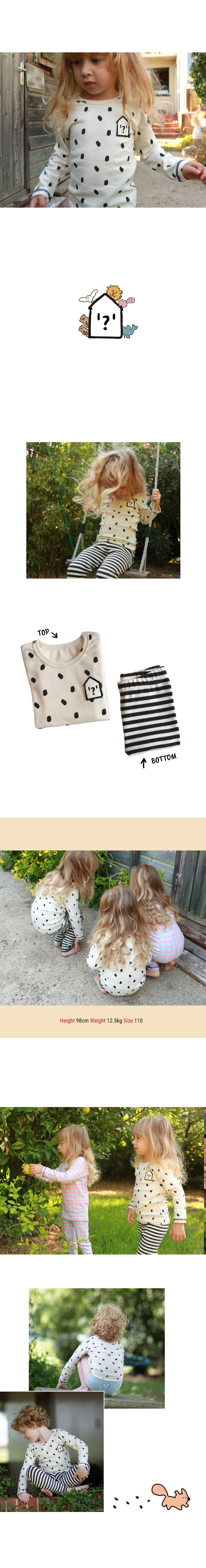 KOKACHARM - Korean Children Fashion - #Kfashion4kids - Dot Stripe Slim Fit Easywear - 3