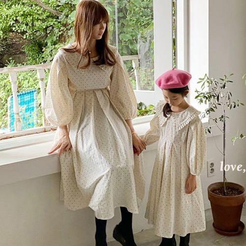 LOVE ROSIE - BRAND - Korean Children Fashion - #Kfashion4kids - Dot Sailor Collar One-piece with Mom
