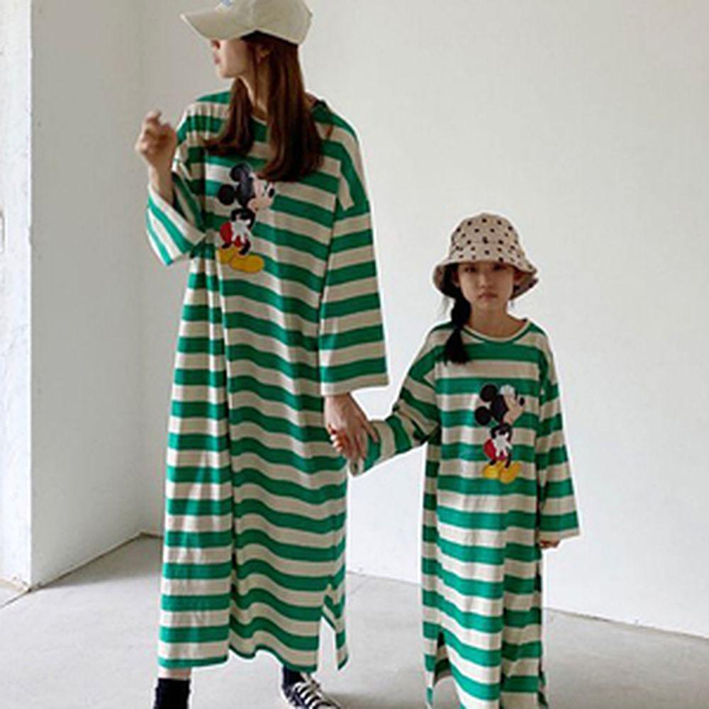 LOVE ROSIE - BRAND - Korean Children Fashion - #Kfashion4kids - Stripe Mickey One-piece with Mom