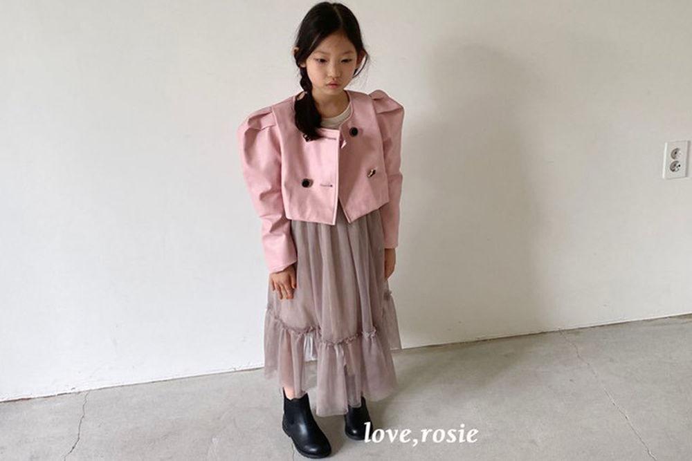 LOVE ROSIE - BRAND - Korean Children Fashion - #Kfashion4kids - Volume Leather Jacket