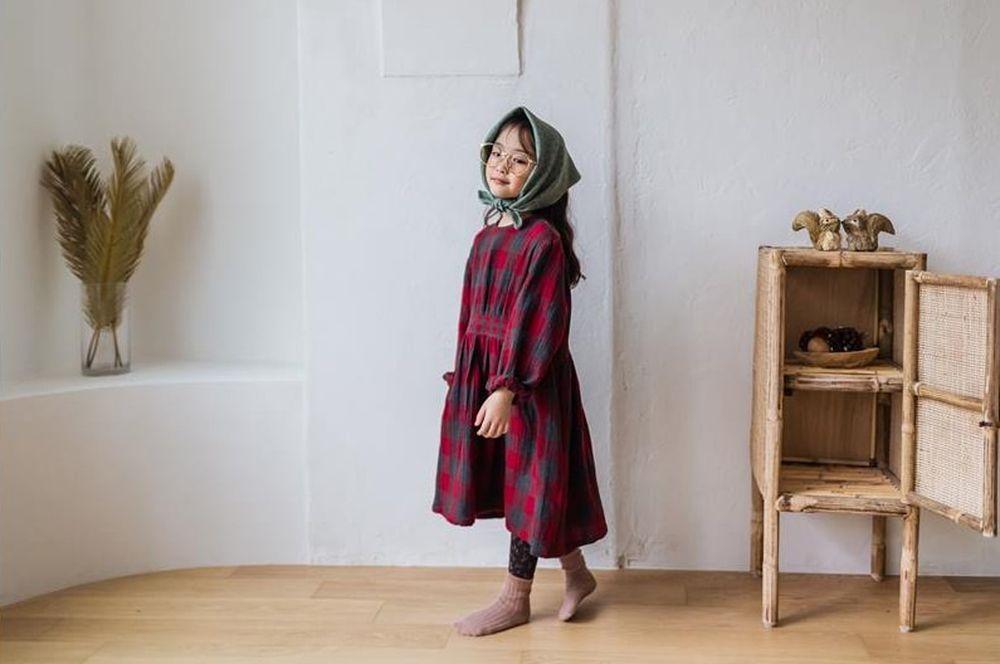 MILK POWDER - Korean Children Fashion - #Kfashion4kids - Check One-piece