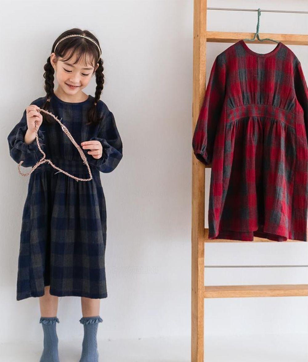 MILK POWDER - BRAND - Korean Children Fashion - #Kfashion4kids - Check One-piece