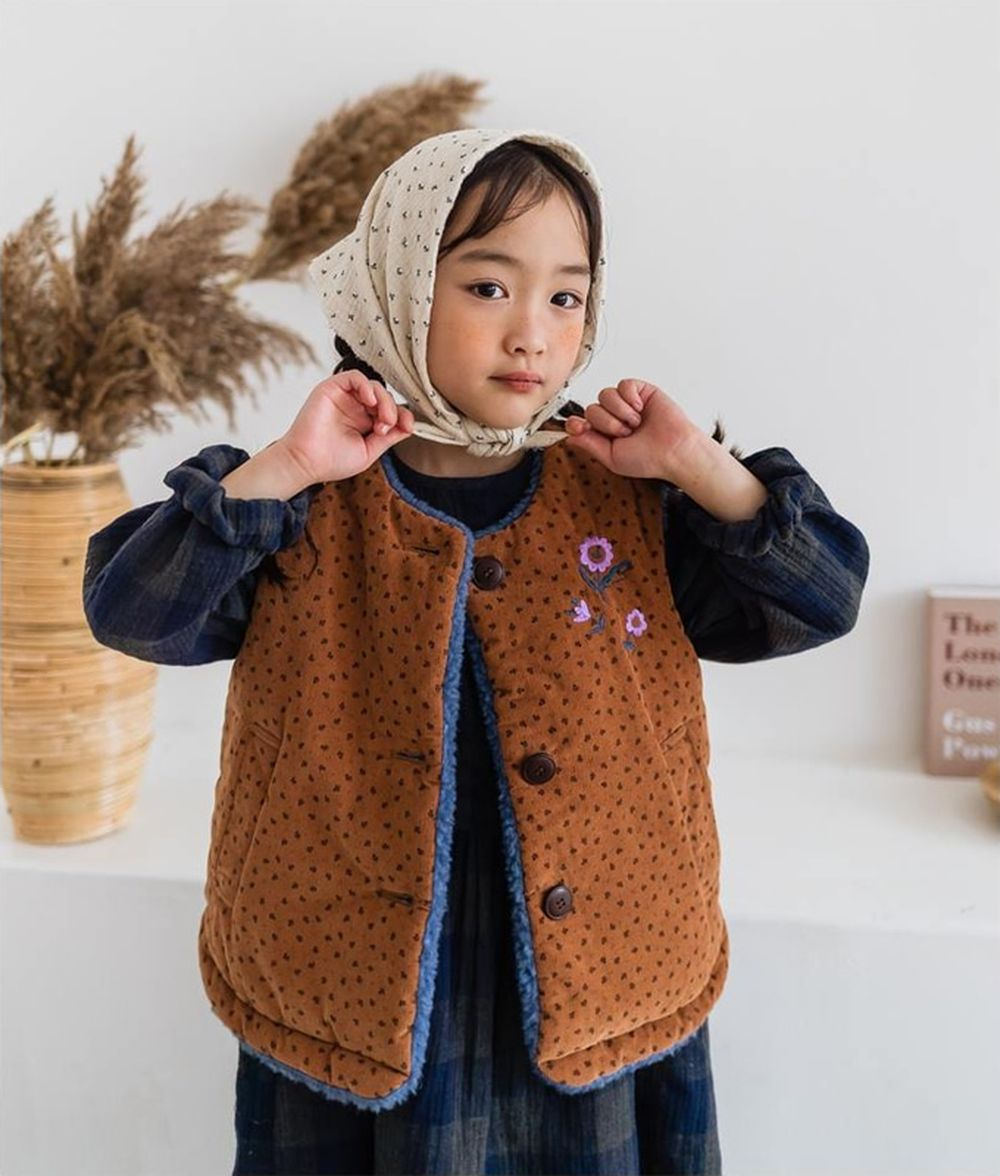 MILK POWDER - BRAND - Korean Children Fashion - #Kfashion4kids - Reversible Padding Vest