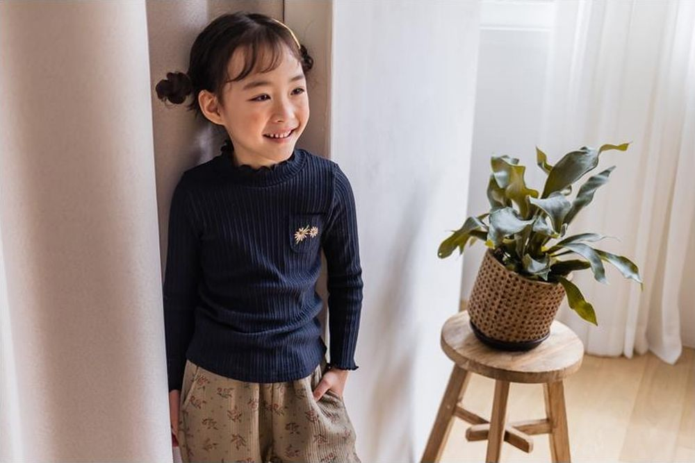 MILK POWDER - Korean Children Fashion - #Kfashion4kids - Rib Turtleneck Tee