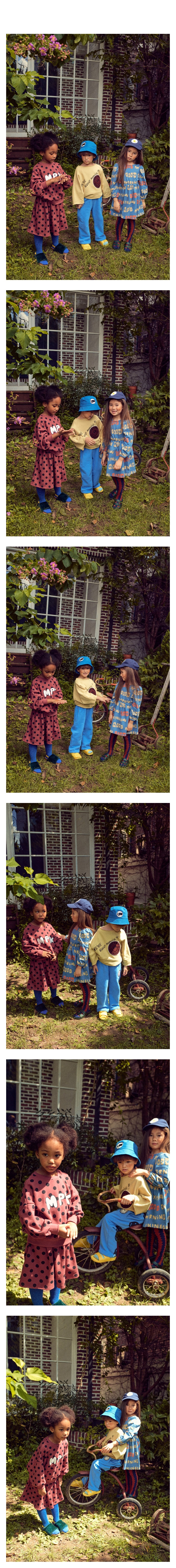MINI PS MARKET - Korean Children Fashion - #Kfashion4kids - Back Long Smile Fleece Pants