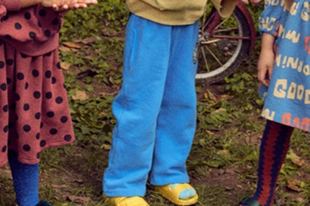 MINI PS MARKET - BRAND - Korean Children Fashion - #Kfashion4kids - Back Long Smile Fleece Pants