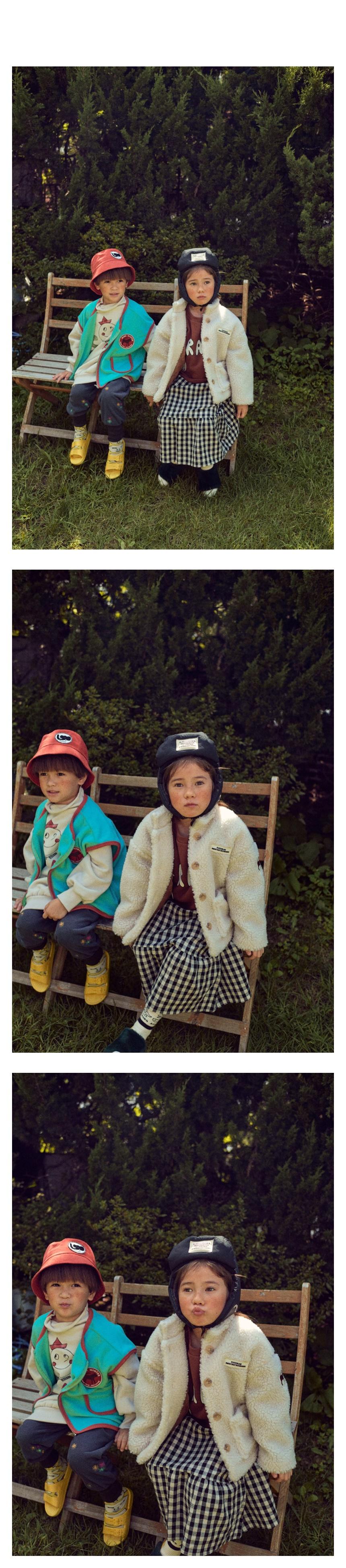 MINI PS MARKET - Korean Children Fashion - #Kfashion4kids - Check Smile Long Skirt