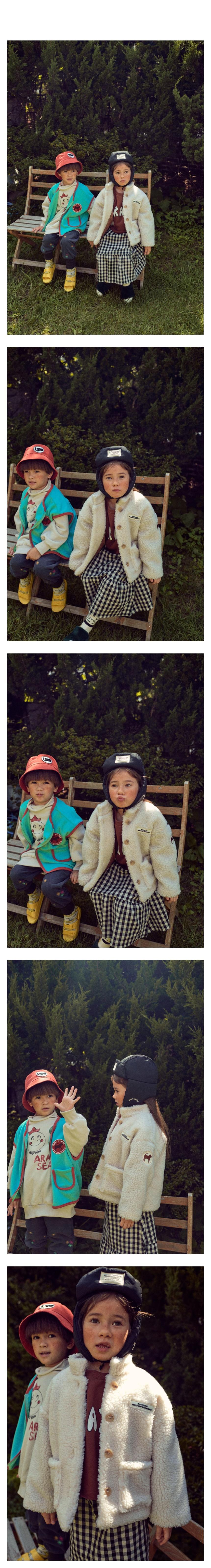 MINI PS MARKET - Korean Children Fashion - #Kfashion4kids - Crown Fleeced MTM