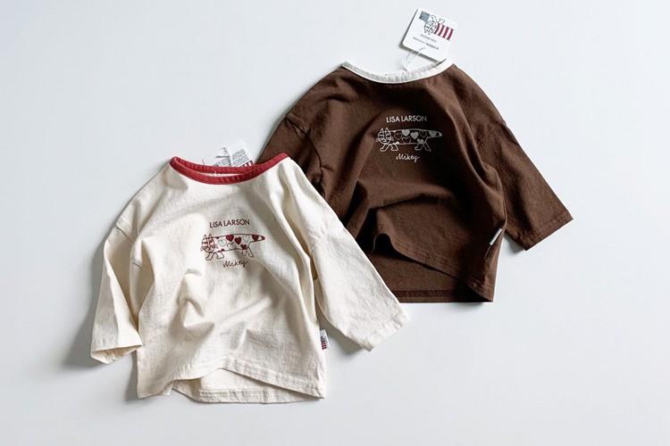 MINI ROBE - BRAND - Korean Children Fashion - #Kfashion4kids - Heart Mikey Tee