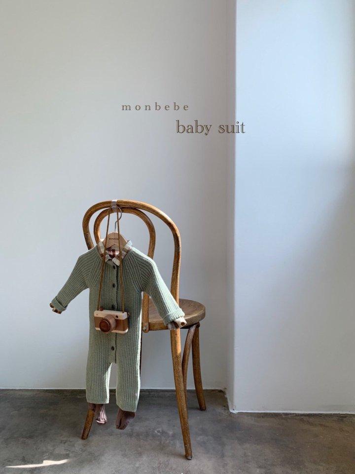 MONBEBE - Korean Children Fashion - #Kfashion4kids - Rib Knit Bodysuit - 3