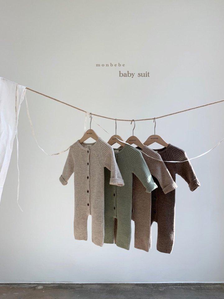 MONBEBE - BRAND - Korean Children Fashion - #Kfashion4kids - Rib Knit Bodysuit