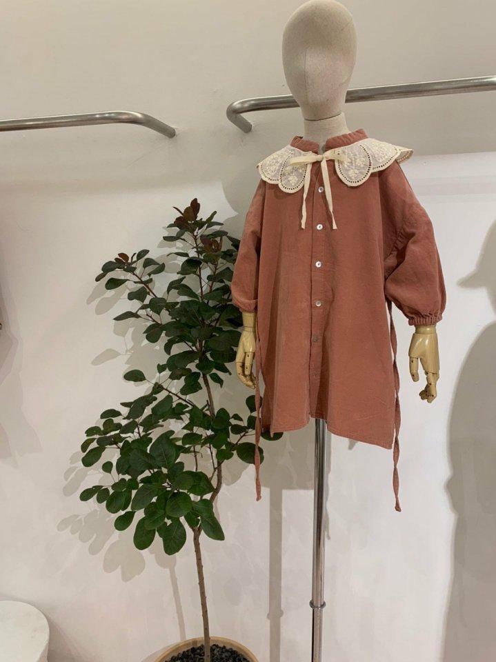 MOOI STORE - Korean Children Fashion - #Kfashion4kids - Trench One-piece with Lace Collar - 3