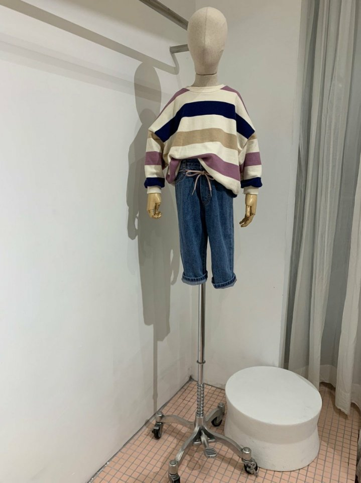 MOOI STORE - Korean Children Fashion - #Kfashion4kids - Dandan Stripe MTM - 4