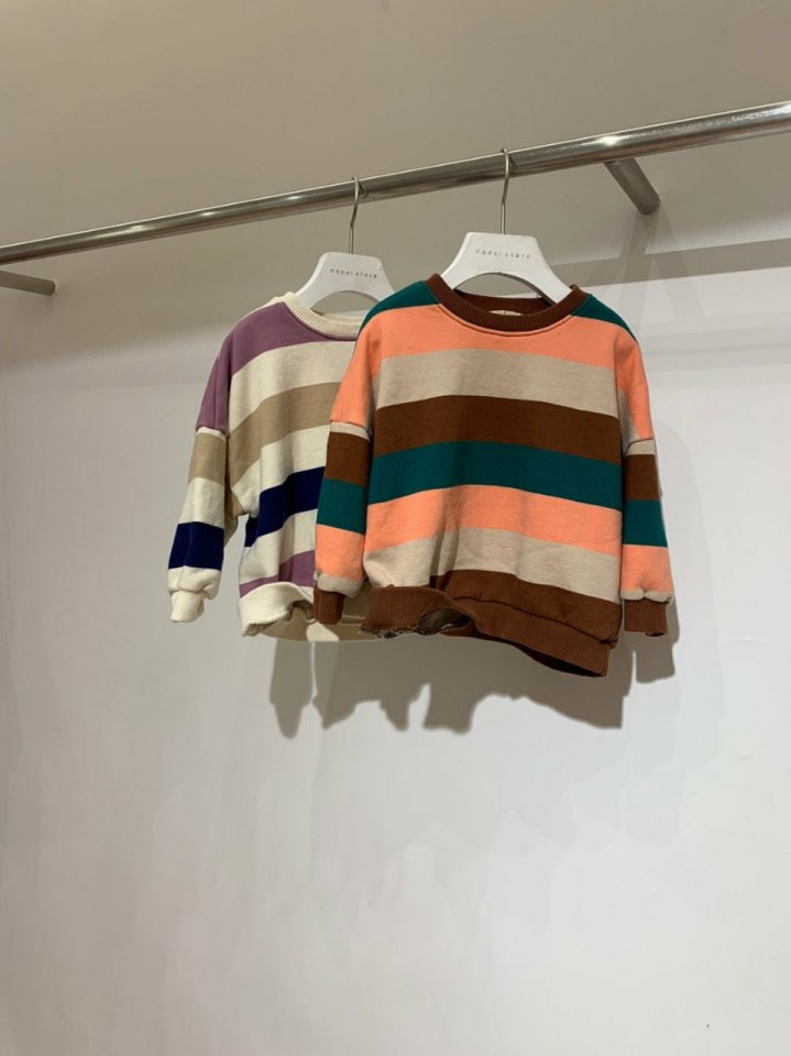 MOOI STORE - BRAND - Korean Children Fashion - #Kfashion4kids - Dandan Stripe MTM