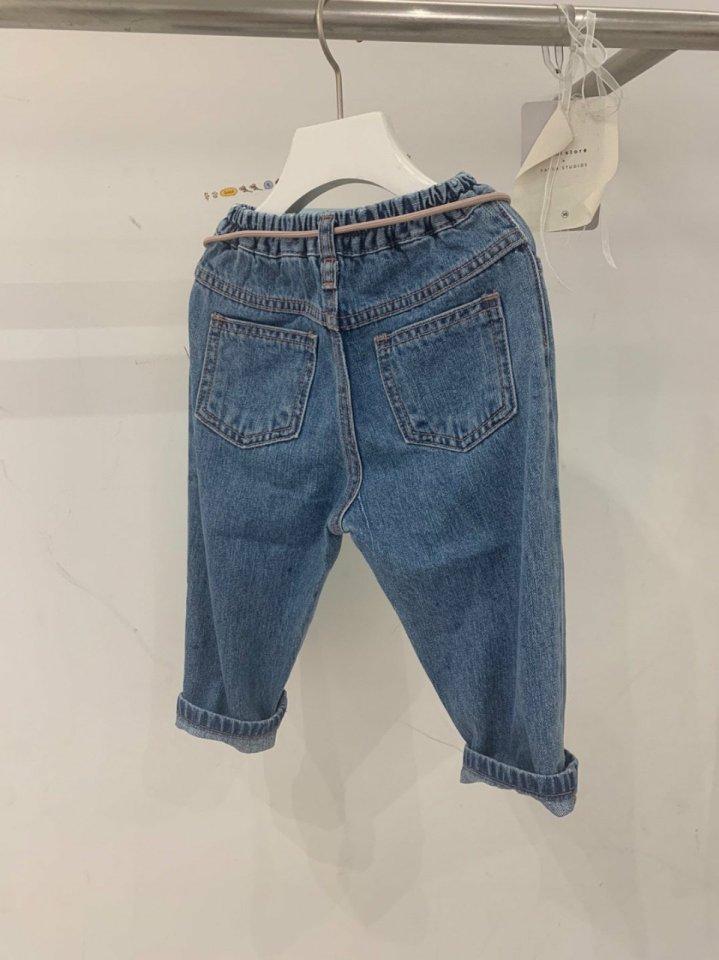 MOOI STORE - Korean Children Fashion - #Kfashion4kids - Ping String Denim Pants - 3