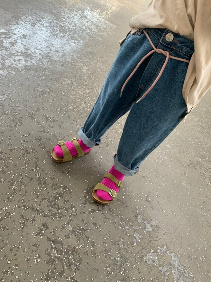 MOOI STORE - Korean Children Fashion - #Kfashion4kids - Ping String Denim Pants - 4