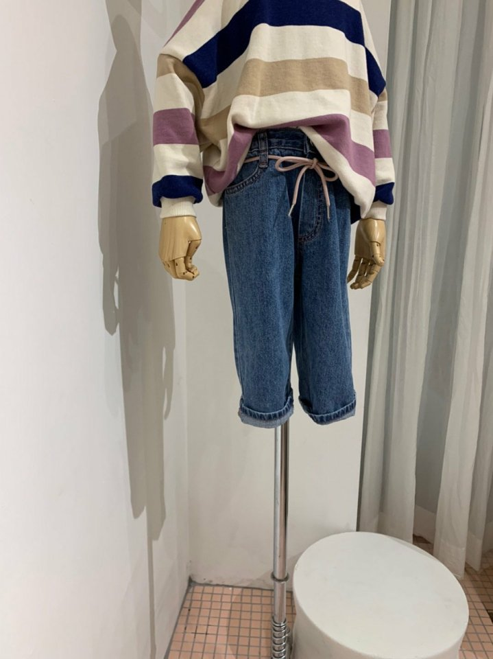 MOOI STORE - Korean Children Fashion - #Kfashion4kids - Ping String Denim Pants - 6