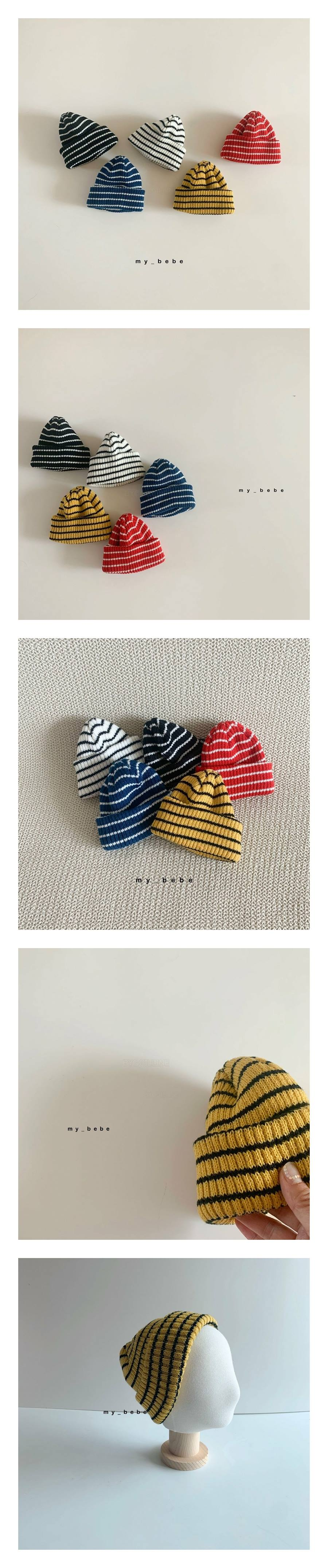 MY BEBE - Korean Children Fashion - #Kfashion4kids - Stripe Beanie