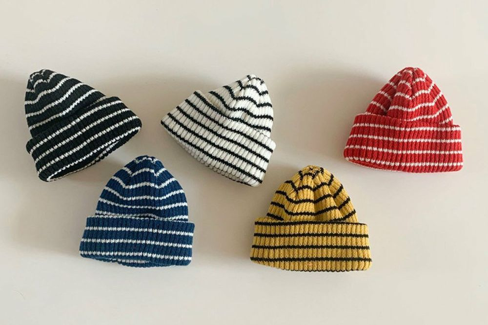 MY BEBE - BRAND - Korean Children Fashion - #Kfashion4kids - Stripe Beanie