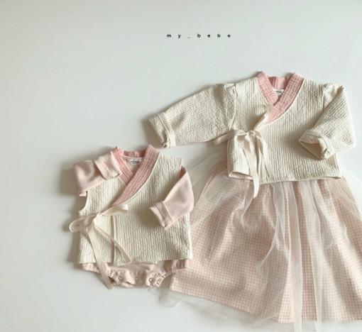 MY BEBE - BRAND - Korean Children Fashion - #Kfashion4kids - Pink Hanbok Set