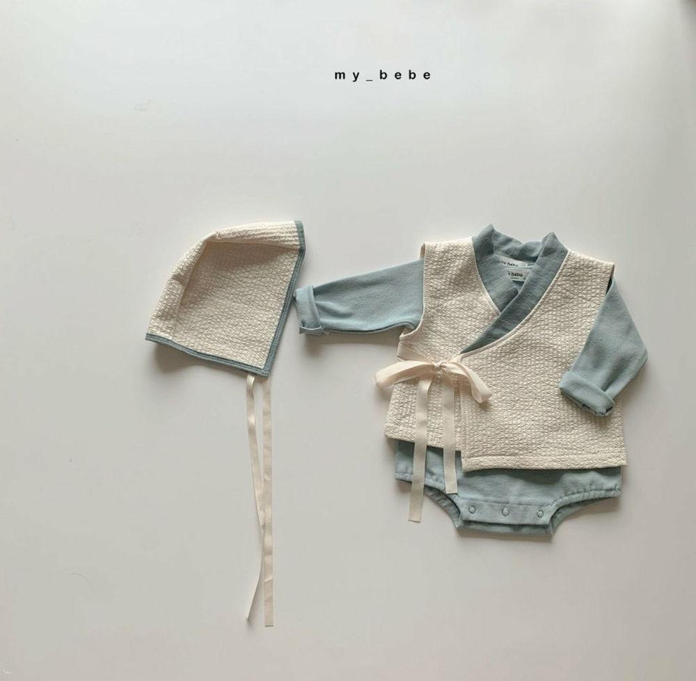 MY BEBE - Korean Children Fashion - #Kfashion4kids - Bebe Blue Hanbok Set