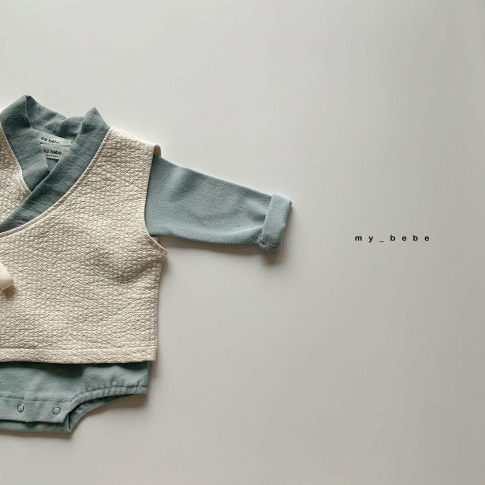 MY BEBE - Korean Children Fashion - #Kfashion4kids - Bebe Blue Hanbok Set - 3