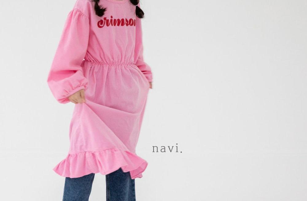 NAVI - Korean Children Fashion - #Kfashion4kids - Crimson One-piece
